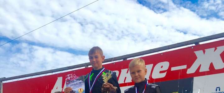 Aleksei Zakharenko from ILS grade 6M1 is Vladivostok's Parilla Mini Class karting champion