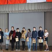 Winners and runners up at the city stage of the All-Russian School Olympiad