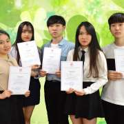 "ILS international students win prizes at city-wide competition-festival ""Glagol tainstvenniy"""