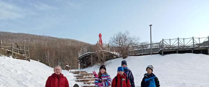 ILS 6th graders enjoy winter fun at Shtykovsky Ponds art park