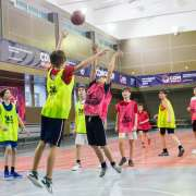ILS 6th graders play basketball