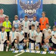 The football team, where the fifth-grader from ILS plays, won 3rd place in the «Sakhalin Winter» tournament